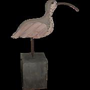 Vintage Folk Art Shoreline Bird – Curlew