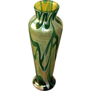 SOLD Bohemian Cameo Art Glass Vase