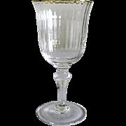 Six Venetian Glass – Red Wine Glasses – Gilded Rims