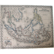 Colton's East Indies Map – 1855 – Framed