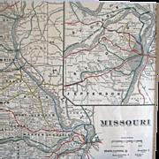 Map of Missouri – Circa 1890 – Cram's Universal Atlas