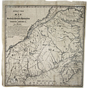 Map of British & French Dominions in North America 1775