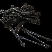 """Antique Surveyor's Chain – 65.5' (100 Links) – """"Double Decametre"""""""