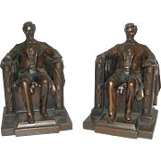 Vintage Pair Abraham Lincoln Bookends