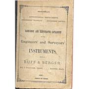1891 Buff & Berger Illustrated Instruments Catalog