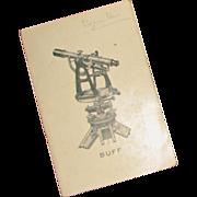 Vintage Buff & Buff Mfg. Co. Catalog of Surveying Instruments