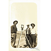 Vintage Real Photo Post Card – Survey Crew, Cartwright, N.D. Ca 1915
