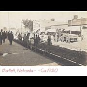 SOLD RPPC – Bartlett, Nebraska – Road Construction Crew & Surveying Crew –Ca 1920