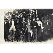 Group of Surveyors & Instrument -Vintage Real Photo Post Card