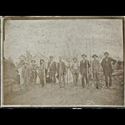"Antique Photo of Land Surveyors CA 1880 – ""IRON COUNTRY, MI"""