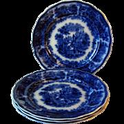 """Flow Blue Plate 1889-1900 """"Non Pariel"""""""