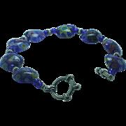 Lady's Venetian glass toggle bracelet