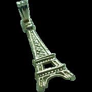 Lady's 1.6 gram 14K yellow gold 22.6mm high Eiffel Tower charm pendant