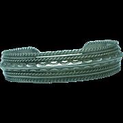 SALE Lady's Navajo sterling cuff bracelet