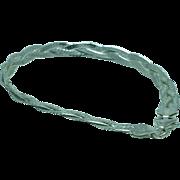 Lady's 4.5 gram woven sterling bracelet