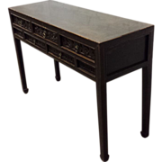 SALE Chinese Antique Console Table with Drawers