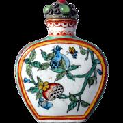 Chinese Painted Enamel Porcelain Snuff Bottle