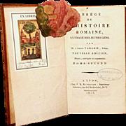 """1813 1st Edition,All Leather """"ABREGE DE L'HISTOIRE ROMAIN"""", VOL 2"""