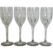 """Mikasa Crystal Uptown 9"""" Wine Water Goblets Set/s of 4"""