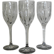 """Mikasa Crystal Uptown 9"""" Wine Water Goblets Set of 3"""