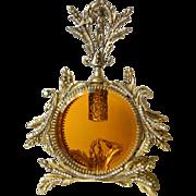 Swarovski Jeweled AB Crystal Ormolu Amber Cherub Bird Vanity Perfume Bottle Complete 1 of 2 ..