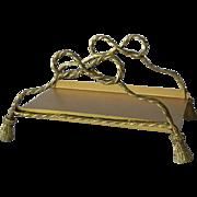 Tassel Rope Design Ormolu Vanity Guest Hand Towel Napkin Letter Mail Holder