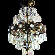 Crystal Prism Six Tier Chandelier Aurora Borealis