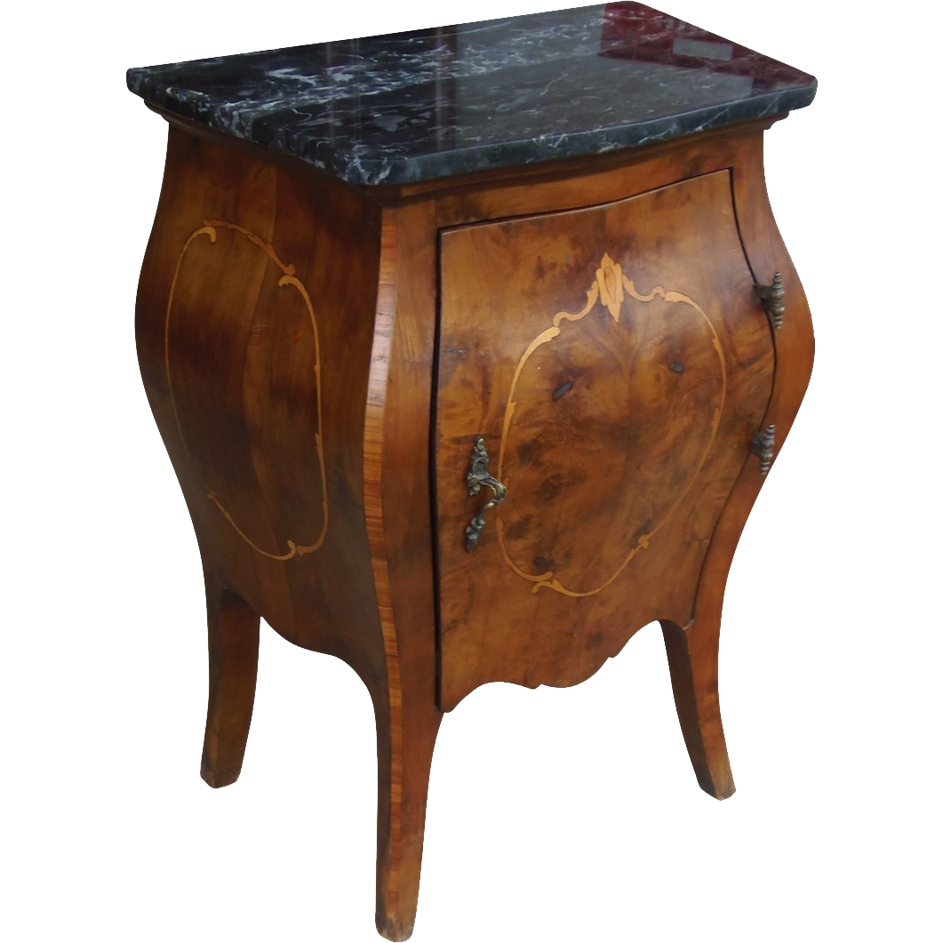 antique italian small inlaid commode from rubylane sold on ruby lane. Black Bedroom Furniture Sets. Home Design Ideas