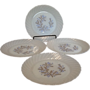 """Milk Glass 9"""" Lunch or Snack Plates"""