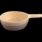 McCoy Handled Bowl Pink and Blue Stripe