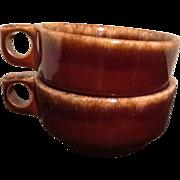 Hull Pottery Brown Drip Glaze Bowls