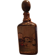Italian Leather Covered Liqueur Decanter