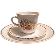 Corelle Indian Summer Lunch Plates with Cups and Saucers