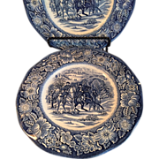 Staffordshire Liberty Blue Lunch Plates