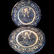 Staffordshire Liberty Blue Dinner Plate