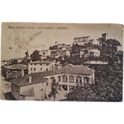 Scenic postcard dated 1916 showing Monteombraro, Italy