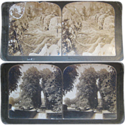 Set of 9 Stereoview cards - Group 2