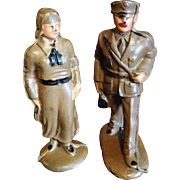 Two Auburn Rubber WWI Medical Corps. Figures