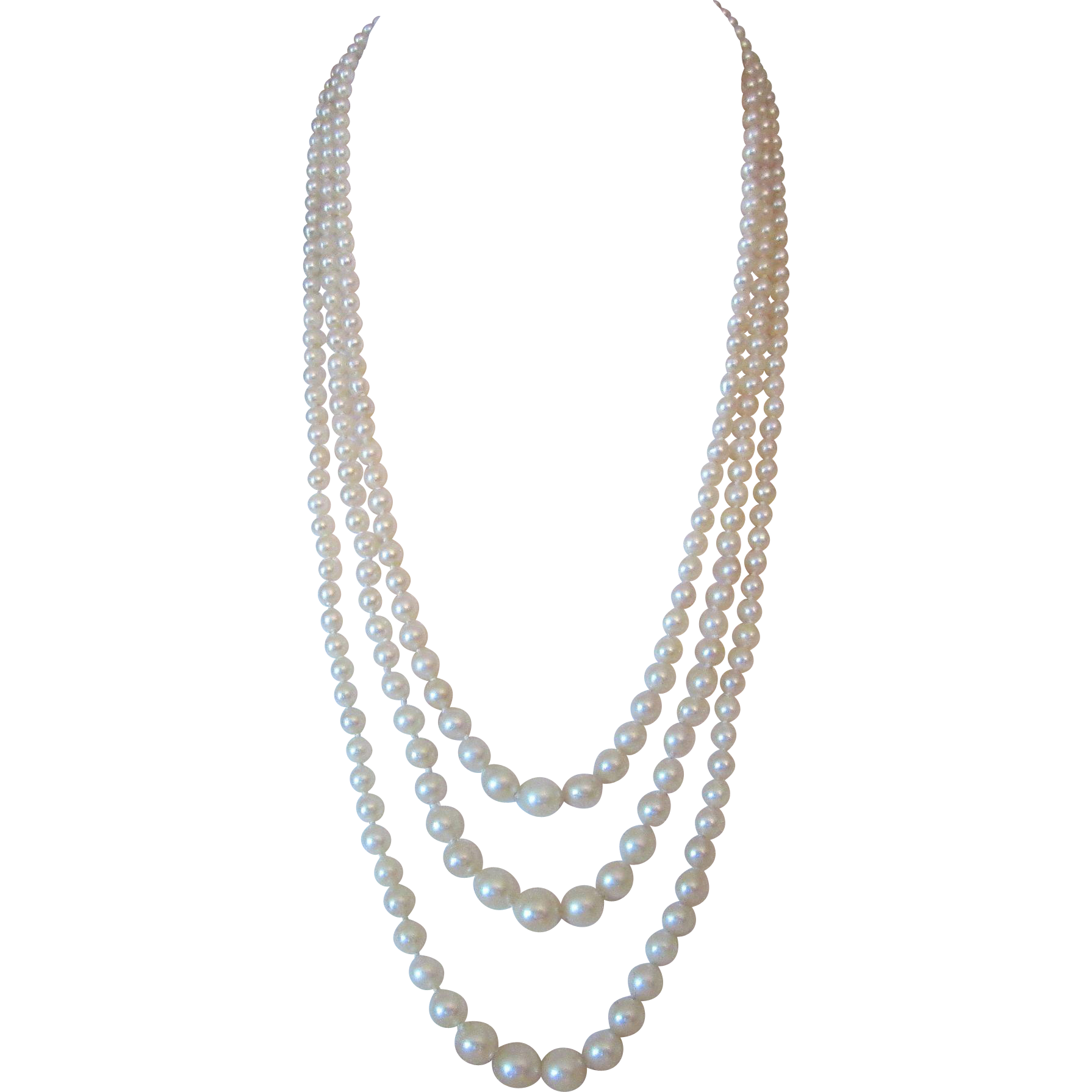 deco cultured pearl necklace from rubylane sold on ruby