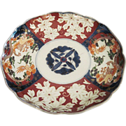 Vintage Oriental 19th Century Japanese Imari Porcelain Plate With Flowers And Dragons And ...