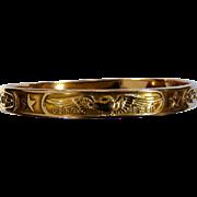 Tiffany & Co. 14 Karat Rose Gold U. S. Naval Academy Bangle Bracelet
