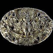 SALE Art Nouveau Sterling Silver Beetle Brooch