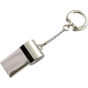 Vintage Sterling Silver Whistle Key Chain