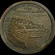 SALE Alaska Copper Trade Token Seward Northern Saloon Billiards 1907-42 Alaska Native