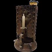 SALE Rare Antique Arts & Crafts Era Viking Tin & Bronze Cigar Store / Lodge Lighter ..