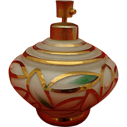 Art Deco Perfume Atomizer Hand Painted Glass Aesthetic