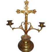 SALE Beautiful All-Original Altar Cross Roman Catholic Religious Church Relic