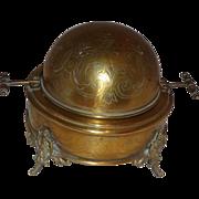 SALE Very Rare Antique Gargoyle Butter Dish Victorian Gothic Aesthetic Brass
