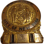 SOLD Rare Antique City of New York NY Police Captain Reserve Badge Late-1800s