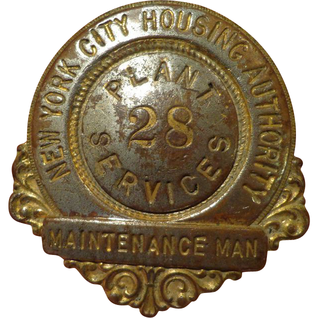 Vintage New York City Housing Authority Badge From The